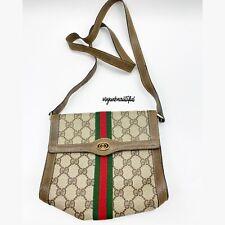 Gucci Vintage Authentic Monogram Stripe Crossbody EUC
