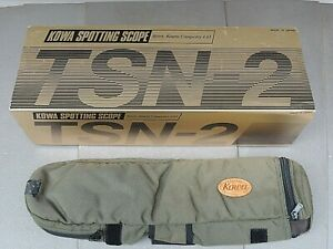 Kowa TSN-2 Spotting Scope w/ 20-60x Eyepiece for Birdwatching, Case & Orig. Box