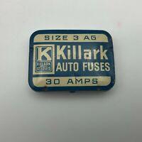 Vintage Killark Electric Mfg. St. Louis Advertising Auto Fuses Tin Empty  Q1