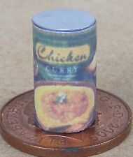 1:12 Empty Chicken Curry Tin Dolls House Miniature Can Kitchen Food Accessory