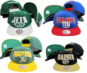 Mitchell & Ness Men's NFL Horizon Adjustable Snapback Hat - Choose Team