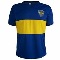 Boca Juniors 1960's Shirt Retro Football Short Sleeve Mens Top