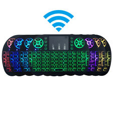 7 Colors i8 Wireless Mini Keyboard Mouse Touchpad w/ Backlight For TV Box Pad PC