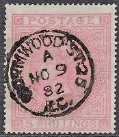 1874 QV SG127 5s Pale Rose DG Plate 2 Good Used CV £1,500+