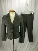 Ann Taylor Women's Gray Plaid Pant Suit 6P