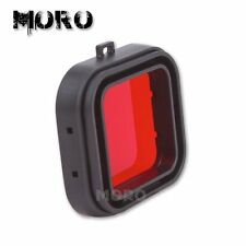 Red Snap On Dive Filter Fr GoPro Hero HD 3+/4 Lens Color Correction Accessories