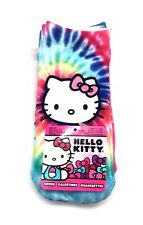 Sanrio 3pk Hello Kitty Girl Ankle Sock Booties Rainbow Pink Blue Sox Shoe Sz 9-3