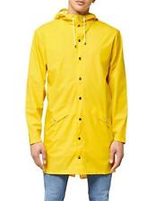 Rains Long Jacket, impermeable Uomo, Yellow, Small/Medium (Talla (J8E)