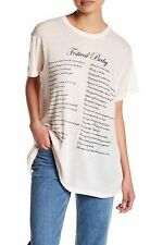 Wildfox NWT Festival Baby Ghost Nude Short Sleeve Slouchy T-Shirt Top sz Small