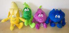 4 VITAMINI PISELLO MIRTILLO BANANA FICO peluche coop Vita Mini pupazzo plush toy