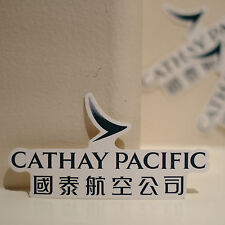 """#4097 Cathay Pacific Hong Kong Travel Airline Flight Label 2x4"""" Decal STICKER"""