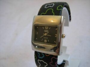 NEW QUARTZ STAINLESS STEEL USS WATCH WITH FLEXIBLE STRAP