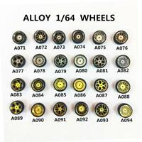 1/64 Scale Alloy Wheels - Custom Hot Wheels, Matchbox,Tomy, Rubber Tires New