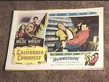 CALIFORNIA CONQUEST 1952 LOBBY CARD #2 WESTERN CORNEL WILDE