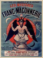 Livre Vintage AD ANCOURT taxil mystères de la franc-maçonnerie ART PRINT POSTER lf203