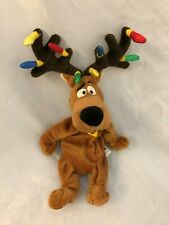 """Plush Brown 12"""" Scooby-Doo Dog with Antlers - Warner Brothers Toy"""