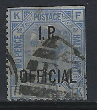 2 1/2d Blue  I R Official Used FORGERY no doubt !