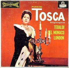 LONDON ffss UK BLUEBACK Puccini TOSCA Pradelli TEBALDI Del Monaco PALMA OS-25218