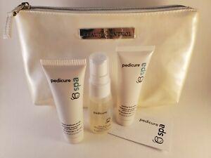 BeautiControl Pedicure Spa Travel Kit~NEW (1oz. scrub/spray/cooling salve +bag)