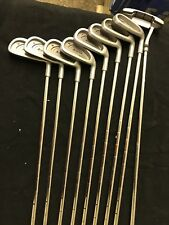 SET OF RIGHT HANDED 38.5 inch ACCU-FLO PLUS GOLF CLUBS - ACUSHNET  GRIPE