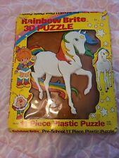 Rainbow Brite Vintage Unicorn Rainbow 3-D Plastic Puzzle in Original Box 1983