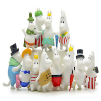 12 PCS Moomin Hippopotamus Family Anime Action Figure Cake Topper Kid Gift Toys