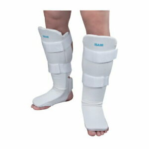 ISAMI Easy Shin Guard Color White Size XL free shipping from JAPAN