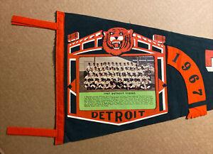 Vintage 1967 Detroit Tigers Pennant.