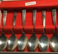 Set of Six Silver Plate Tea Spoons - 1977 queens Silver Jubilee - Sheffield