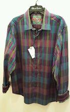 NWT Robert Graham Shirt- MACFARLAND- size XL- DEEP JEWEL COLORS!!
