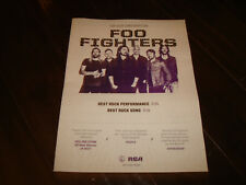 Foo Fighters 2017 Grammy ad for hit 'Run' Dave Grohl & Sza Best New Artist