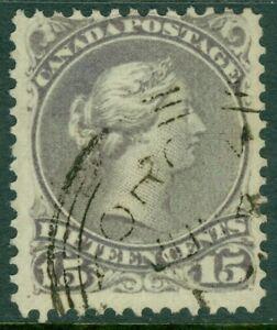 EDW1949SELL : CANADA 1868 Scott #29 Grey Violet. Used cds cancel. Nice. Cat