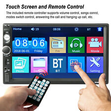 "Bluetooth Car Stereo Radio 2 DIN 7"" HD MP5 FM Player Touch Screen + Rear Camera*"
