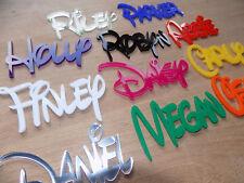 DISNEY Personalised Acrylic Name Plaque Board Word wall/door craft/sign Plastic
