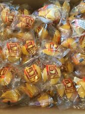 """200 pcs Golden Bowl Fortune Cookies Individually Wrapped """"Free Shipping"""""""