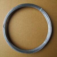 100' Guy Wire Galvanized Steel Cable 4 Strand 20 Gauge Antenna Mast Support