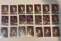 Tyrese Maxey Prizm RC Lot - 21 Cards Silver, Green, And Red Cracked Ice