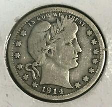 1914-S Barber Quarter VG+