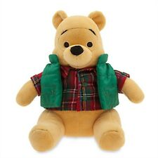 WINNIE THE POOH HOLIDAY PLUSH GENUINE ORIGINAL AUTHENTIC DISNEY STORE PATCH NWT