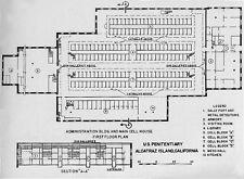 Framed Print – Floor Schematic Alcatraz Prison (Picture Poster Art Execution)