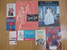 New ListingLot Of Vintage Sewing Ephemera Singer Sewing Skills, Dressmaking +
