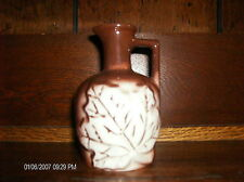 Sheffield Pottery Brown White Leaf Handle Jug Pitcher