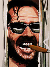 JACK NICHOLSON CIGAR PRINT poster the shining movie horror film smoking cohiba