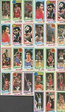 1980-81 Topps Basketball Lot Kareem Abdul-Jabbar Julius Erving NBA Stars+ HOF