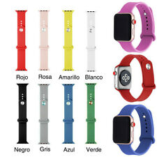 Recambio Correa de Silicona Compatible Con Apple Watch Serie 1 2 3 4 5 38mm 42mm