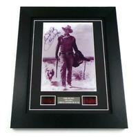 JOHN WAYNE Signed PREPRINT + FILM CELLS GIFT ORIGINAL MOVIE MEMORABILIA