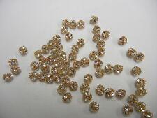 24 swarovski full bodied beadballs(center hole)5.5mm crystal/goldplated