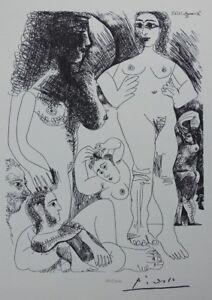 Pablo Picasso (Dopo ) - Odalische - Litografia Erotica Firmato #1200ex