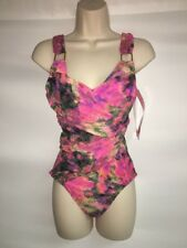 Spanx One Piece Swimsuit Size 6 Color Screen Draped Wire Free NWT $198