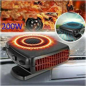 200W Portable Heater Heating Cooling Fan Defroster Demister for Car Truck 12V